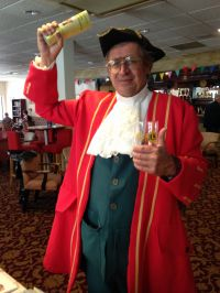 Our town crier enjoying a drink
