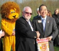 Lion Mike and our International President Lion Wing-Kun Tam