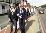 The Mayor and Lion President Martin lead off